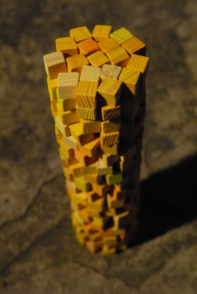Affranchi de l°Øexistence_2014_8x 8x 25cm, bois, colorant