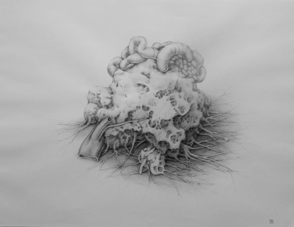 sans titre, crayon de couleur sur papier, 50x56